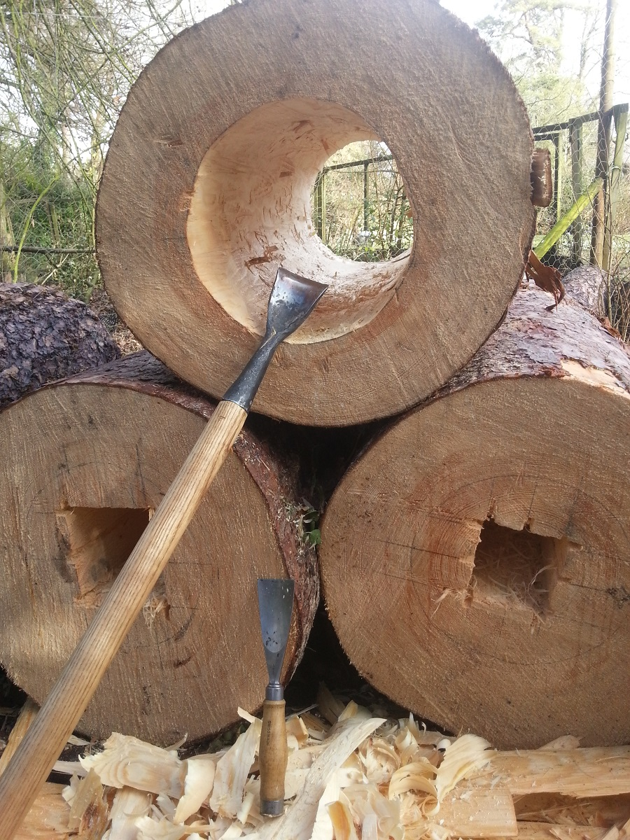 Making a log hive – Bee Kind Hives